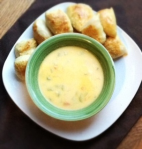 Cheddar Cheese Veggie Soup