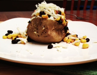 Black Bean and Corn Potatoes | Kathy's Kitchen Table
