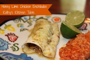 Honey Lime Chicken Enchiladas | Kathy's Kitchen Table