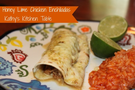 Honey Lime Chicken Enchiladas | Kathy's Kitchen Table
