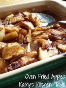 Oven Fried Apples | Kathy's Kitchen Table