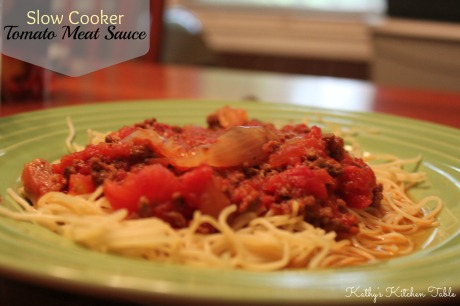 Slow Cooker Tomato Meat Sauce | Kathy's Kitchen Table