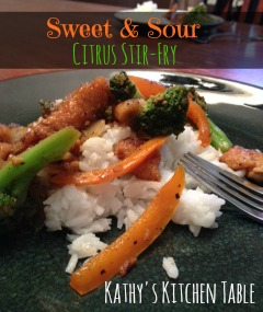 Sweet & Sour Citrus Stir-Fry | Kathy's Kitchen Table