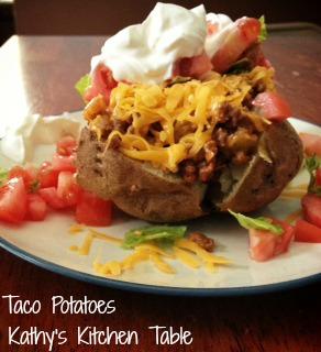 Taco Potatoes   Kathy's Kitchen Table